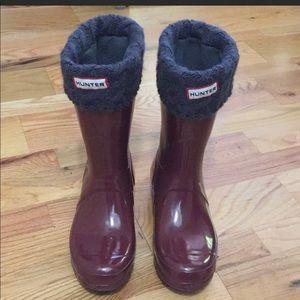 Hunter Rain Boots, Burgundy, Size 39/8